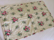 STUNNING VINTAGE SANDERSON ROSES QUILTED COT COVER OR PILLOW SHAM