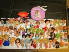 Liddle Kiddles vintage dolls and clones, 61 pieces total
