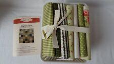 Rinske Stevens Ragtime Quilt Kit 100% Cotton Flannel Fabric - Green RRP £100