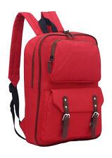 "AM Landen®Super Cute Canvas 14"" Laptop Backpack School Bag(Red)"