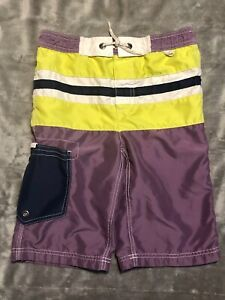 Mini Boden Boys Size 7-8 Swimsuit Trunks Boardshorts