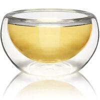 NEW! TEAOLOGY LUNA BOROSILICATE GLASS TEA/ESPRESSO CUP - HIGH HEAT RESISTANCE