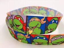 DIY 5 Yard 1''25MM Cartoon ninja turtle Printed Grosgrain Hair Bow Sewing Ribbon