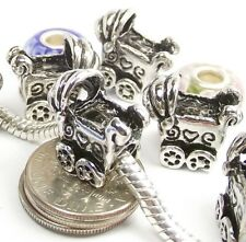 Baby Stroller Screw Threaded Stop Lock Bead for Silver European Charm Bracelet