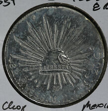 1888 Mexico 8 Reales Silver Coin - Mexico City Mint