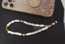 Handy Kette Perlen Handyhülle Perlenkette Anhänger Liebe Glück  Love phone Hülle