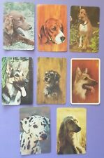 Lot of 8 Vintage Collector / Trading Cards - DOGS