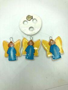 Vintage The Beachcombers Intl 1984 Angels Windchime Christmas Ornament Ceramic