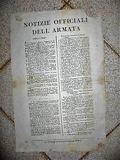 J876-PERIODO NAPOLEONICO-BOLLETTINO ARMATA 1813 BATTAGLIA DI LUTZEN