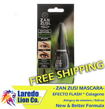 1 Zan Zusi Colageno y Aceite de Recino Waterproof Black Roll On Mascara 9g Glass