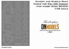 Canopy & Wheels Paint Masks for F/A-18D Hornet for Hobby Boss 1/48 #80322