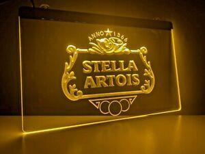 Stella Artois UK LED Light Neon Sign Home Bar Pub Mancave Beer Pint Dad Gift