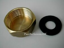 """WASHING MACHINE 3/4"""" Inch BRASS BLANKING END CAP NUT COVER & WASHER STOP CAP"""