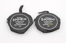 """EXC++ 2X RPS STUDIO REFLECTORS 12"""" SILVER / GOLD & SILVER / WHITE, NICE & CLEAN"""