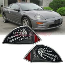 Fit 2000-2005 Mitsubishi Eclipse LED Taillight Replacement OE Style Black/Clear