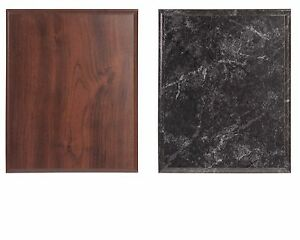 Blank Award Plaque Board 8x10 Cherry OR Black Marble Finish, Trophy Base