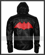 Batman Arkham Knight Jason Todd Red Hood Gaming Leather Jacket Costume Mens