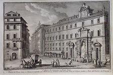ITALIA, ROMA COLEGIO PUENTE SISTO, GRABADO ORIGINAL DE VASI,C.1759