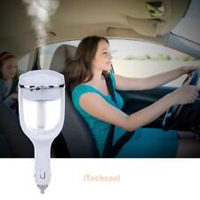 12V Car Steam Humidifier Purifier Aroma Oil Essential Diffuser Ultrasonic Fogger