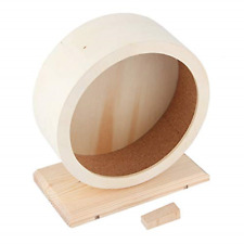Dioche Hamster Wooden Running Exercise Wheel, Silent Small Animals Rest Nest,