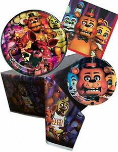 FIVE NIGHTS AT FREDDY'S PARTY SUPPLIES NAPKINS TABLECOVER BANNER DECORATIONS