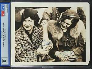Babe Ruth & Claire Ruth Authentic Signed 8x10 Photo PSA/DNA Slabbed