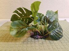 Jardin Aquarium Fish Tank Water Grass Leaf Plant Ornament with Ceramic Base