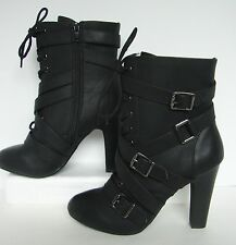 Dolce High Heel Buckle Short Boots Womens 6 Diddley
