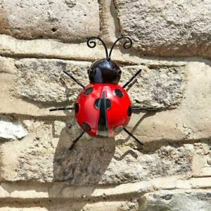 Smart Garden Decorative Colourful Steel Red Decor Ladybird Fun Garden Wall Art