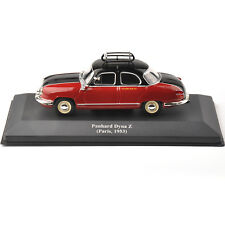 1/43 IXO Diecast Red Taxi Model Panhard Dyna Z (Paris ,1953) Vehicle Car Toy