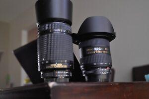 Nikon AF 18-35mm and 70-300mm ED FX lenses  Nikon D70,80,90,200,300,7000,600,800