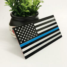 Police Officer Thin Blue Line American Flag Metal Decal Car Auto Sticker Graphic
