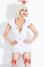 R005 Set Costume Divisa Abito Intimo con Reggicalze da Sexy Infermiera Nurse