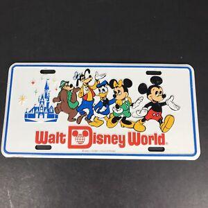Walt Disney License Plate Vintage Mickey Minnie Mouse Donald Duck Goofy