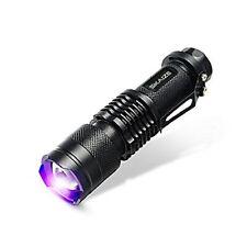 Skaize Schwarzlicht Taschenlampe UV LED-Handlampe Prüfgerät (395nm, Zoombar, ...
