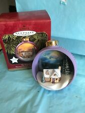 """The Warmth Of Home"" Hallmark Lighted Ornament Kinkade-pa/g"