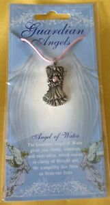 Angel Of Water Silver Pewter Pendant On A Waxed Cord
