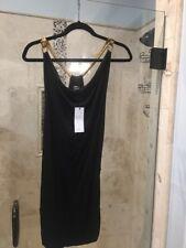 Nwt New BCBG MAXAZRIA  GOLD CHAIN HOLIDAY PARTY BLACK DRESS M