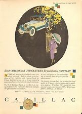 1920's CADILLAC 5 DIFFERENT COLOR ADS   ORIG VINTAGE  CAR  AD