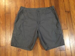 Columbia Mens Outdoor Cargo Shorts Cotton Hiking Gray TAG 34 Act Size 32W x 8L