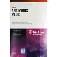 McAfee Antivirus Plus Key Card 1PC 1 Year for Digital Download Brand New