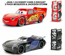 Disney Pixar Cars 3 Jackson Storm Lightning McQueen JADA 1:24 Diecast with Tyres
