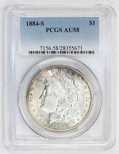 1884 S Morgan Silver Dollar AU 58 PCGS (#5671)