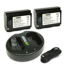Wasabi Power 2pcs Np-fz100 NP Fz100 Battery Dual Charger for Sony Alpha 9 A9 9r