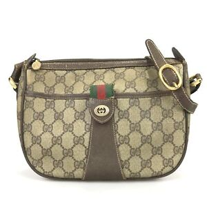 100% authentic Gucci Old Sherry 89.02.032 shoulder bag used 1081-3-e@1c