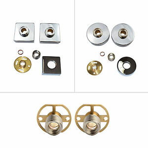 SQUARE ROUND EXPOSED WALL MOUNTED EASY FIT KIT FOR SHOWER BAR MIXER