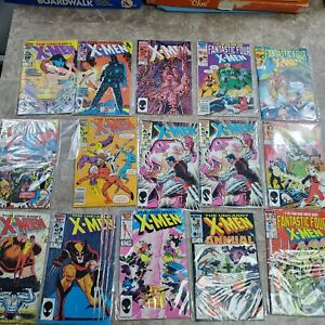 The Uncanny X-Men 1986 lot of 17 Fantastic four and others