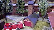 Spritzenhaus |  Bausatz  | Spur N | 1:160  Lasercut | Feuerwache | Feuerwehr