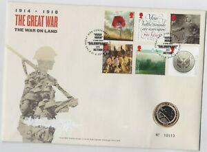 SLIGHTLY DAMAGED 2016 CENTENARY OF WW1 £2 COIN STAMP COVER SET WITH CERTIFICATE