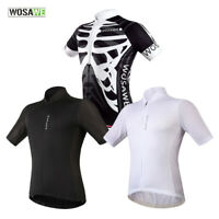 Mens Cycling Jersey Breathable Short Sleeve Shirt MTB Bike Hiking Sports Tops